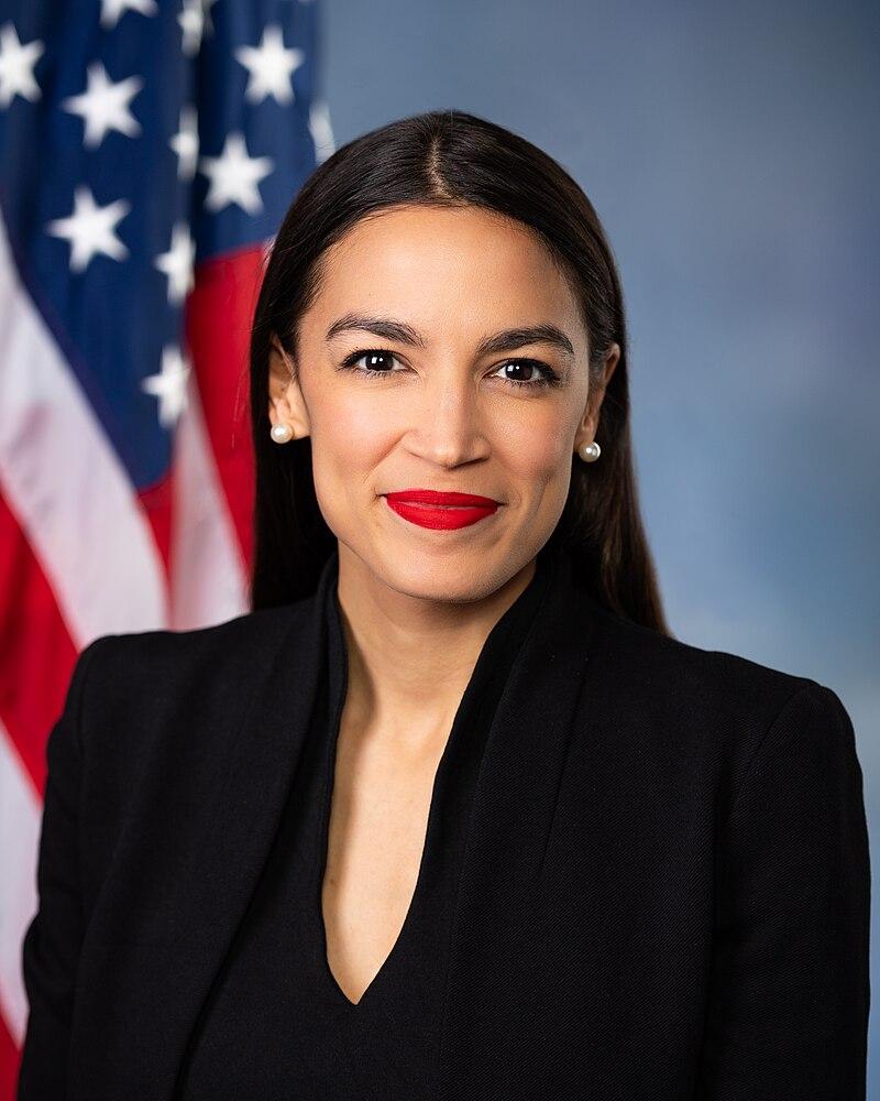 Alexandria Ocasio-Cortez standing