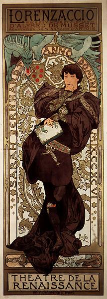 File:Alfons Mucha - 1896 - Lorenzaccio.jpg