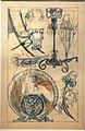 Alfons mucha, progetto per chaise longue, candeliere e supporti, pastello, 1900 ca.jpg