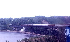 Algoma Central Railway - Crossing Montreal River, 1978