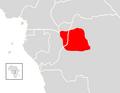 Allenopithecus nigroviridis range map.png