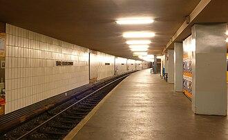 Alt-Mariendorf (Berlin U-Bahn) - The platform of the station