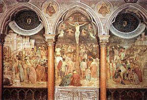 Basilica of Saint Anthony of Padua - Frescoes by Altichiero da Zevio in the St. James Chapel.