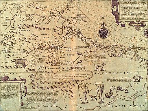 Amazonaskarte Bry 1599
