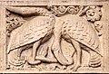 Ambito di wiligelmo, porta della pescheria, 03 favole di esopo, 02,2 uccelli e serpente.jpg