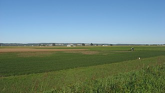 American Bottom - Fields in the Bottom in far southern Monroe County