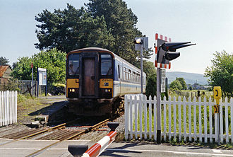 Ammanford railway station - From the crossing, 1994