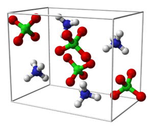 Ammonium perchlorate - Image: Ammonium perchlorate unit cell 3D balls B