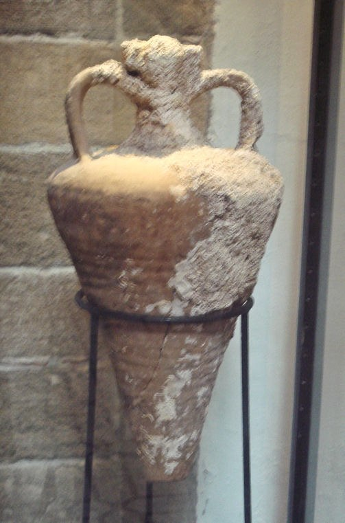 Amphora of the Agora K109 type Agean sea 3rd 4th century CE found between Mogador and Pharaon islands