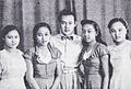 Amran S. Mouna with his sisters Film Varia Nov 1953 p11.jpg