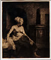 Amsterdam - Rijksmuseum - Late Rembrandt Exposition 2015 - Woman Sitting Half Dressed Beside A Stove 1658 A.jpg