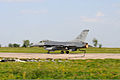An Alabama Air National Guard F-16C Fighting Falcon aircraft uses the field arresting gear at Mirgorod Air Base, Ukraine, July 21, 2011, during Safe Skies 2011 110721-F-ZZ999-056.jpg