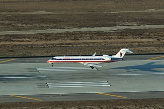 Landing - A Bombardier CRJ700 about to land