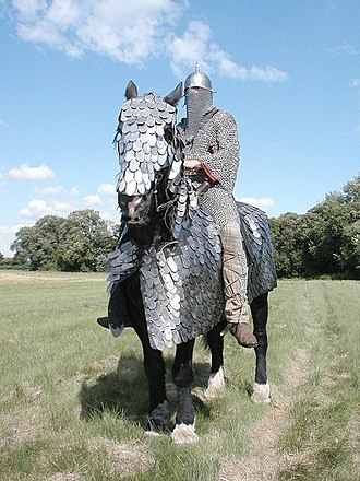 Military history of Iran - Reconstruction of a Sassanid-era cataphract.