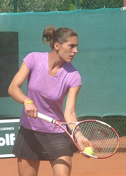 Petkovic at the ITF tournament in Pétange, Luxembourg, in July 2007
