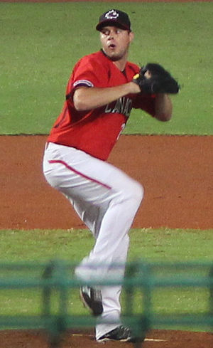 Andrew Albers - Albers with the Canadian national team at the 2015 WBSC Premier12