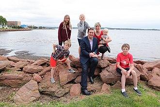 Andrew Scheer - Scheer and his family in July 2017
