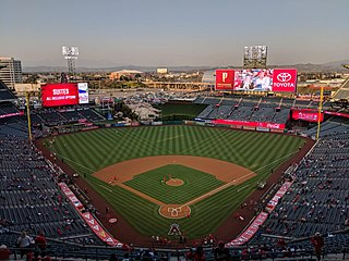 Angel Stadium Baseball park in Anaheim, CA, USA