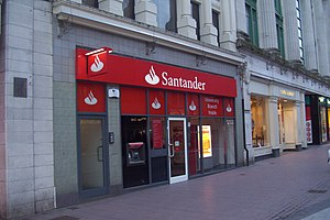 Banco Santander - A branch of Santander in Cardiff, United Kingdom