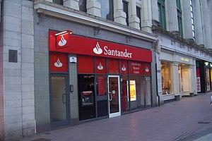 Banco Santander - A branch of Santander in Cardiff, United Kingdom
