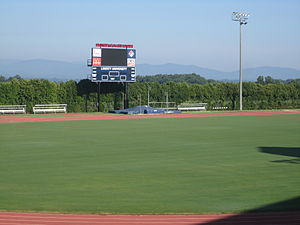 Liberty Flames and Lady Flames - The Liberty University track field in Lynchburg, Virginia
