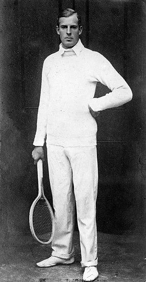Anthony Wilding - Anthony Wilding dressed in tennis attire, ca 1912