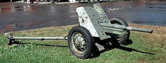 45 mm anti-tank gun M1937 (53-K) - 45 mm anti-tank gun M1937, displayed in Finnish Tank Museum in Parola.
