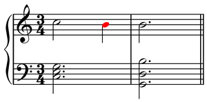 Nonchord tone - Image: Anticipation example 1