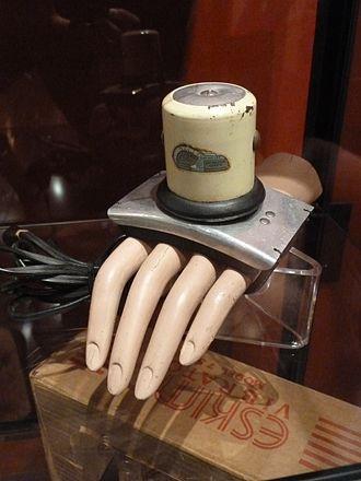 Good Vibrations (sex shop) - Antique vibrator displayed at Good Vibrations store in San Francisco