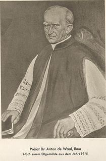 Anton de Waal German theologian, church historian, Christian archeologist
