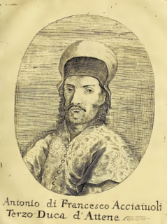 Antonio II Acciaioli Duke of Athens