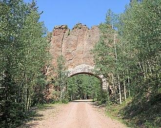Spanish Peaks Wilderness - The Apishapa Arch.