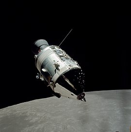 2f17b34ef The Apollo 17 CSM seen in lunar orbit from the ascent stage of the lunar  module