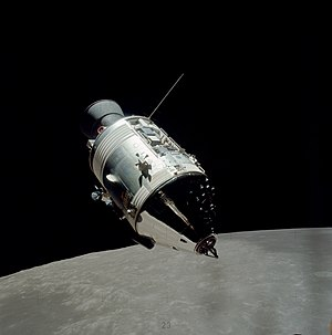 Apollo (spacecraft) - The Apollo 17 CSM seen in lunar orbit from the ascent stage of the Lunar Module