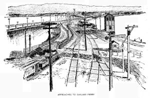 Oakland Long Wharf - Approach to the Oakland Ferry Mole (1889)