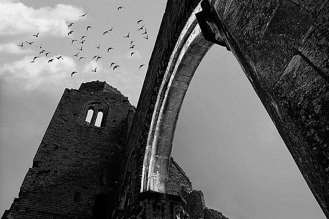 3rd place:  Ruins of the medieval Catholic church of Arač (Aracs) near Novi Bečej, by Gstamenko
