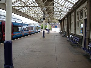 Arbroath railway station - A southbound ScotRail service