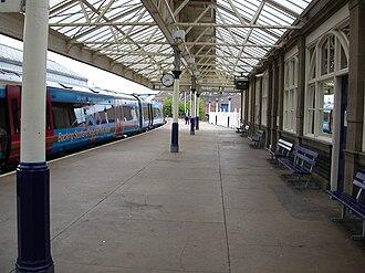 Arbroath railway station - A southbound ScotRail service