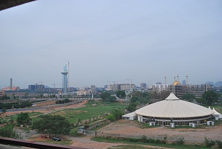 Skyline of Nigerian capital, Abuja Areas in abuja.jpg