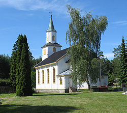 View of the village church