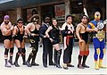 Ari Romero and his Wrestling Musical Group los Rudos del Ritmo at Mexico's prestigious Teatro Blanquita circa 1994.jpg