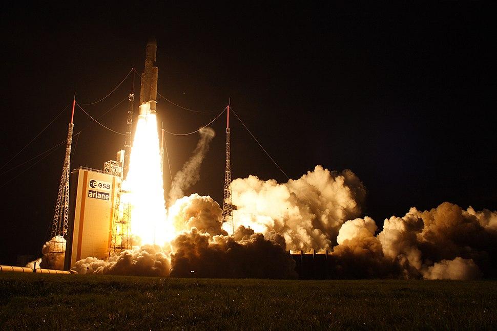 Ariane 5ES liftoff from ELA-3