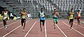 Arokya Rajiv (India) takes part in the Men's final 400m Run, at the 12th South Asian Games-2016, in Guwahati on February 10, 2016.jpg