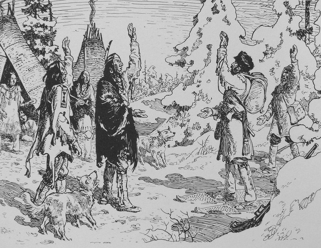File:Arrival of Radisson in an Indian camp 1660 Charles