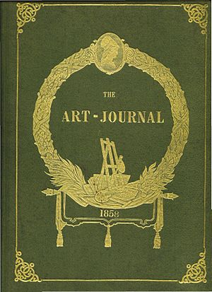 The Art Journal - Cover of a bound volume of The Art Journal from 1858