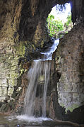 Artificial waterfall in Buttes Chaumont Paris 19th 001.jpg