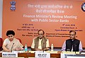 Arun Jaitley holding the Quarterly Performance Review Meeting of the Chairman and Managing DirectorsCEOs of Public Sector Banks (PSBs) and Financial Institutions, in New Delhi (1).jpg