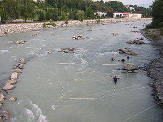 Die Arve bei Annemasse, Haute-Savoie