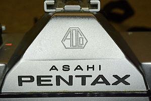 Asahi Pentax - Asahi Pentax logo on a Pentax K1000