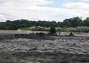 English: Ash lagoon, West Pans. Once a waste p...